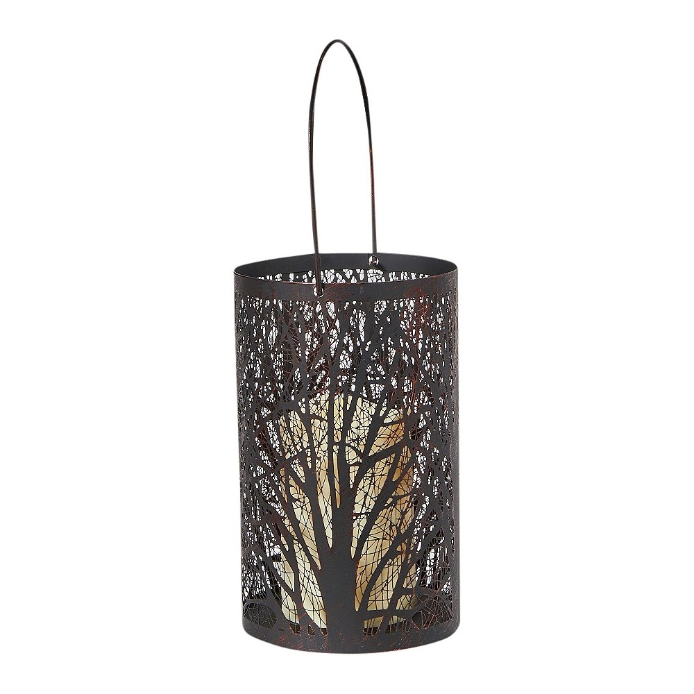 "Image of ""Smart Living Arboretum 8"""" H LED Candle Outdoor Lantern- Antique Black"""