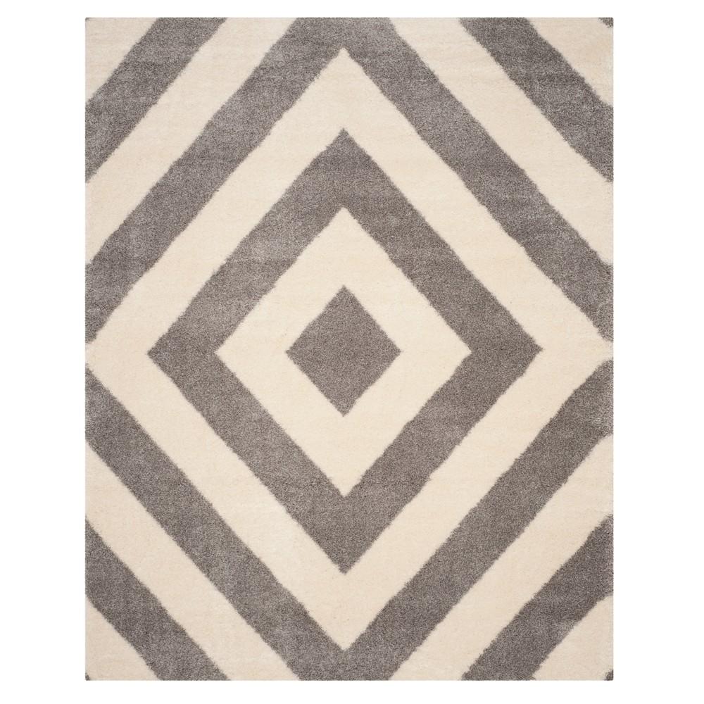 Ivory/Gray Geometric Loomed Area Rug 8'X10' - Safavieh, Ivoryngray