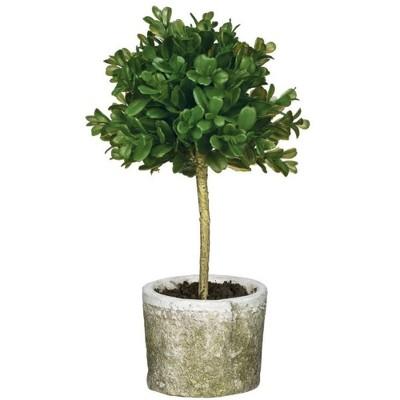 """Sullivans Artificial Mini Boxwood Topiary Tree 12""""H Green"""