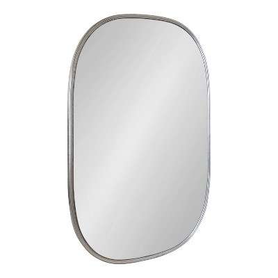 "24"" x 36"" Caskill Irregular Wall Mirror Silver - Kate & Laurel All Things Decor"