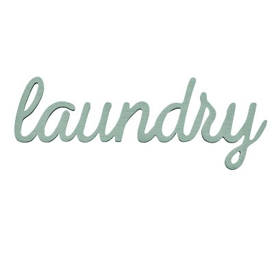 "23"" x 8.5"" Laundry Wall Art Blue - Stratton Home Décor"