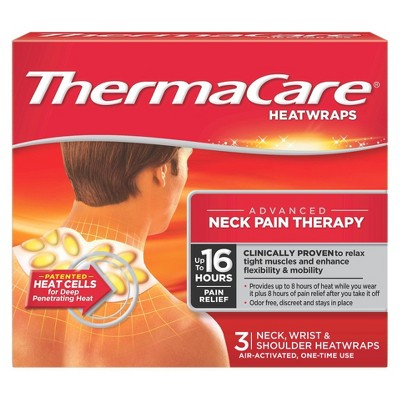 ThermaCare Neck Pain Therapy Heatwraps - 3ct