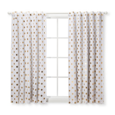 "Blackout Curtain Panel Dots (42""x 84"") - Cloud Island™ Gold - image 1 of 1"