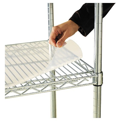 Alera Shelf Liners For Wire Shelving Clear Plastic 48w x 24d 4/Pack SW59SL4824