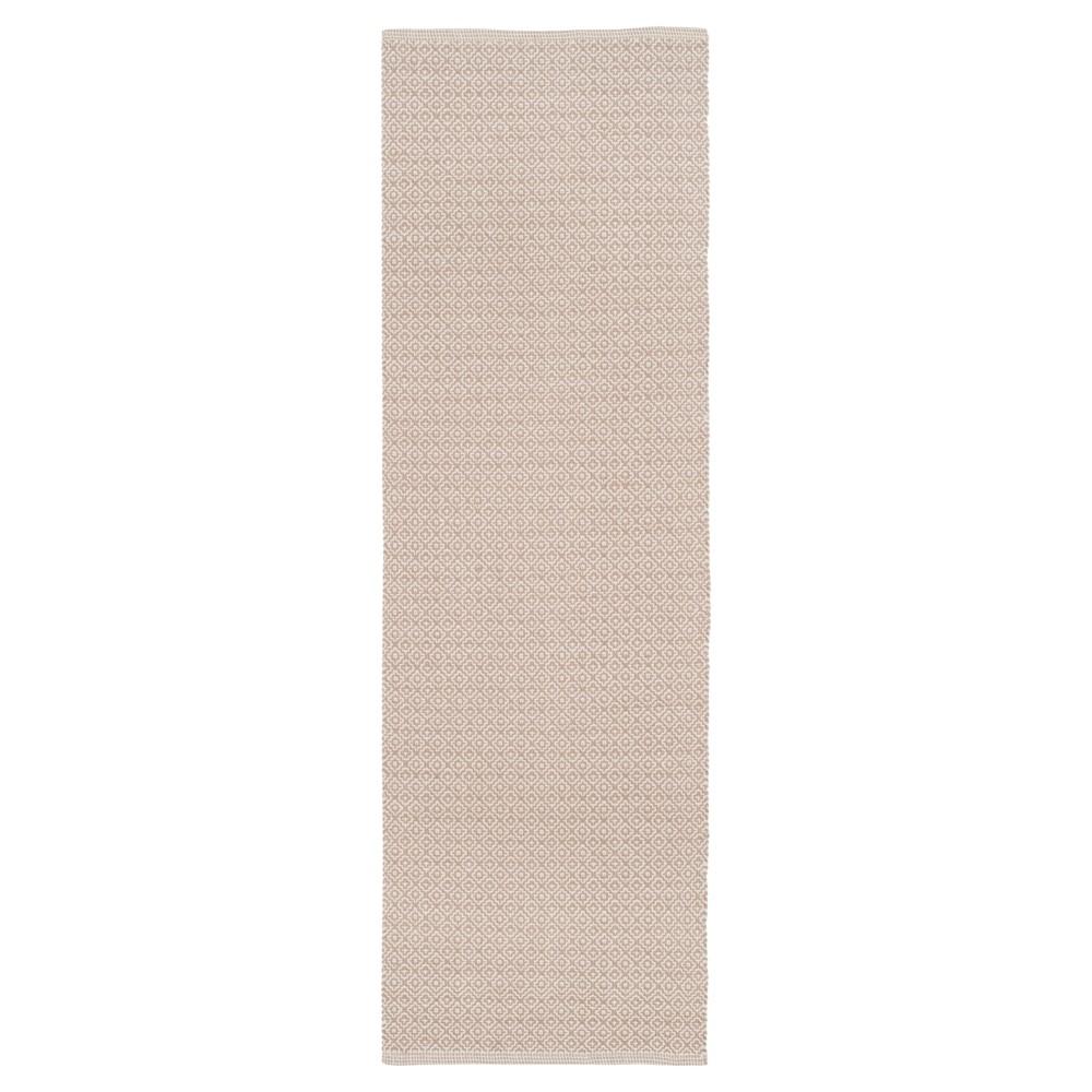 Ivory/Beige Geometric Flatweave Woven Runner 2'3X7' - Safavieh