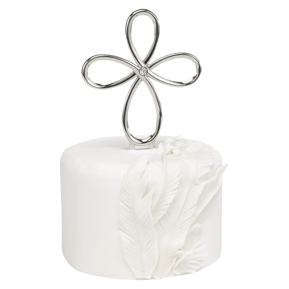 Wedding Cake Topper, Cake Toppers Make your cake all the more special with this Cross Wedding Cake Topper from Hortense B. Hewitt. This nickel-plated, looped-cross cake pick is easy to insert into any cake. The open, looping design and rhinestone accent not only make the topper a graceful way to celebrate your faith, but help it perfectly reflect the rest of your wedding decor.