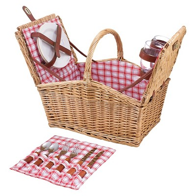 Picnic Time Piccadilly Picnic Basket with Service for Two
