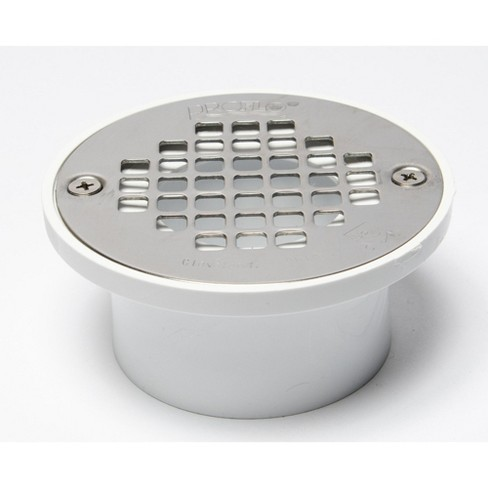 "PROFLO PF42820 2"" or 3"" PVC Shower Drain with 4"" Stainless Steel Strainer - image 1 of 1"