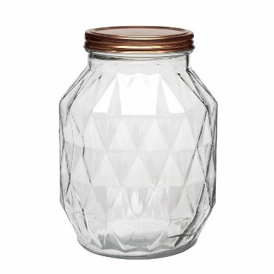 Amici Home Dakota Glass Canister, Large, 108oz