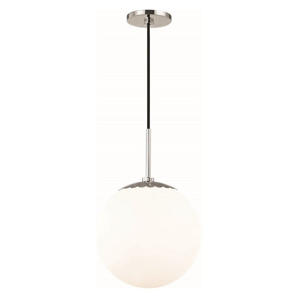 1pc Paige Large Light Pendant Brushed Nickel - Mitzi by Hudson Valley