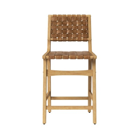 Ceylon Woven And Wood Counterstool Brown Natural Opalhouse