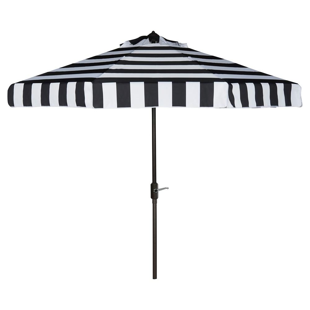Elsa Fashion Line 9 39 Umbrella Black White Safavieh