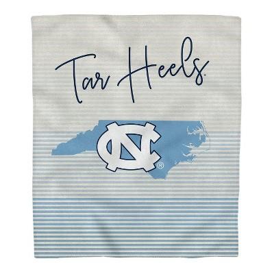 NCAA North Carolina Tar Heels Ultra Fleece State Stripe Blanket