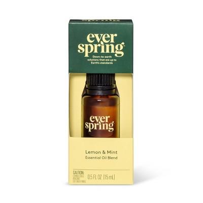 Lemon & Mint Essential Oil Blend - 0.5 fl oz - Everspring™