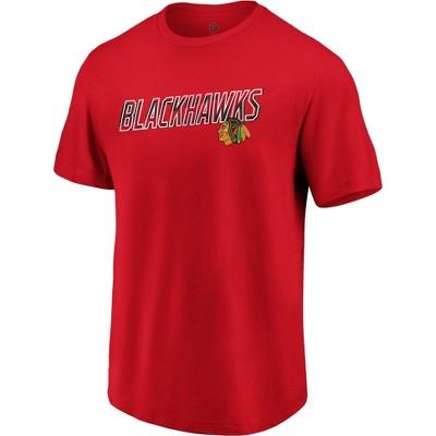 NHL Chicago Blackhawks Men's Engage Horizon Short Sleeve T-Shirt - L