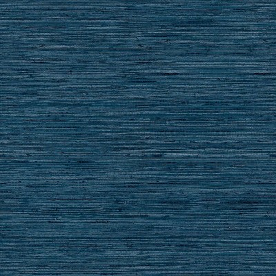 RoomMates Grasscloth Blue Peel & Stick Wallpaper