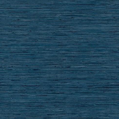 RoomMates Grasscloth Blue Peel & Stick Wallpaper - image 1 of 4