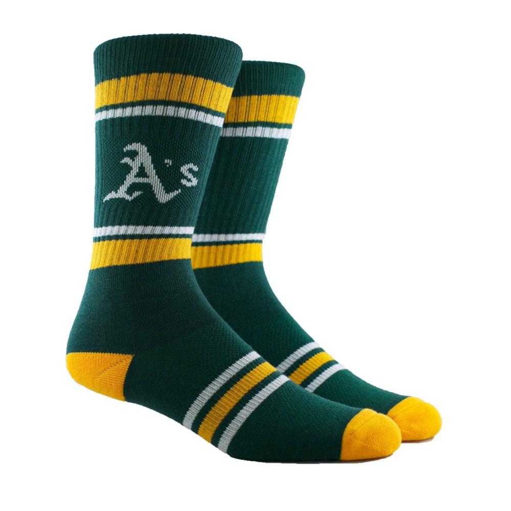 Oakland Athletics Stripe Crew Socks