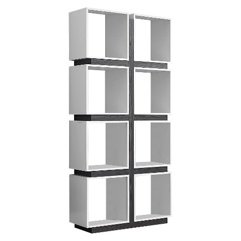 "71"" Hollow Core Bookcase - White/Gray - EveryRoom - image 1 of 2"