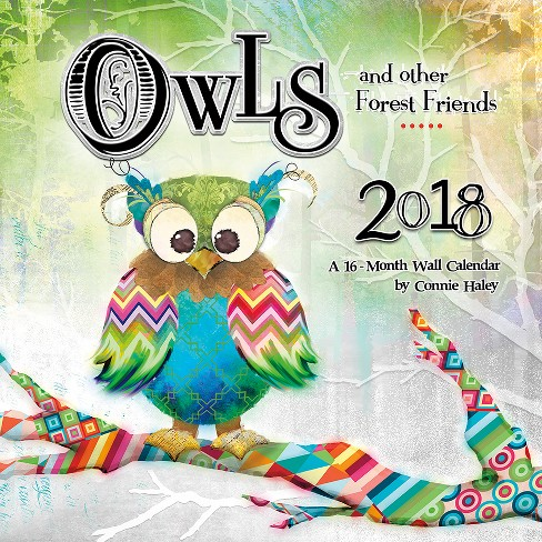 2018 Owls Connie Haley Wall Calendar - Trends International - image 1 of 4