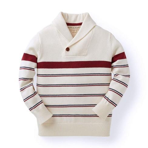 Hope & Henry Boys' Long Sleeve Shawl Collar Sweater, Kids - image 1 of 4