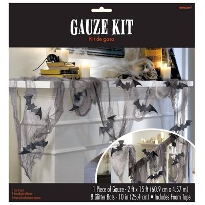 Halloween Glitter Bat & Gauze Kit