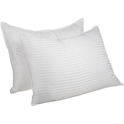 Traditional 1cm Stripe Microfiber Down Alternative 2-Piece Pillow Set - Blue Nile Mills