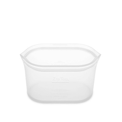 Zip Top 16oz Reusable 100% Platinum Silicone Container - Clear