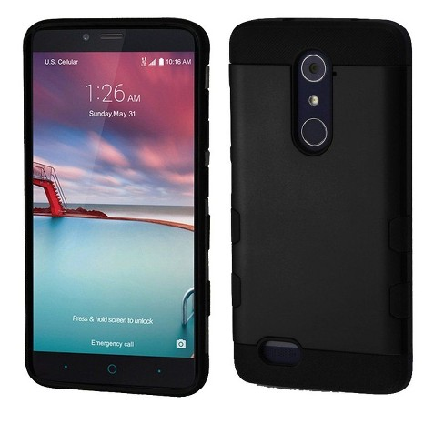 MYBAT For ZTE Grand X Max 2/Imperial Max /Kirk/Max Duo 4G/ZMAX 2/Zmax Pro Black Hard Hybrid Case - image 1 of 1