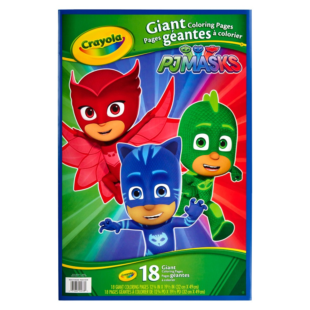 Crayola PJ Masks Giant Coloring Pages, White