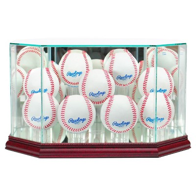 Perfect Cases 9 Baseball Display Case - Cherry Finish