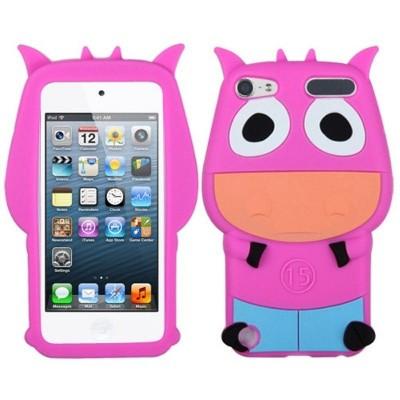 MYBAT For Apple iPod Touch 5th Gen/6th Gen Hot Pink Light Blue Cow Gel Case Cover