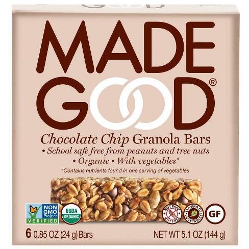 MadeGood Chocolate Chip Granola Bars - 6ct - image 1 of 3