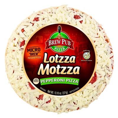 Brew Pub Lotzza Motzza Pepperoni 9-inch Frozen Pizza 13.1oz