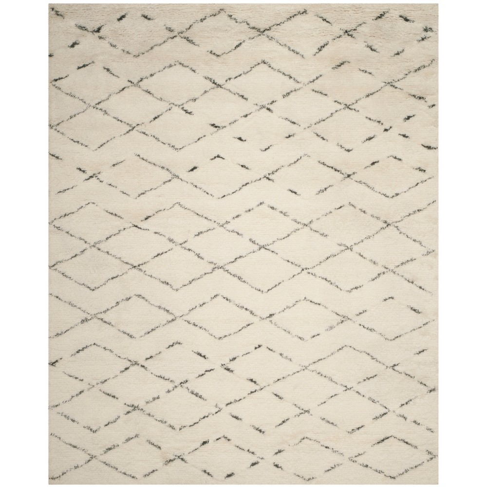 9'X12' Geometric Tufted Area Rug Ivory/Gray - Safavieh