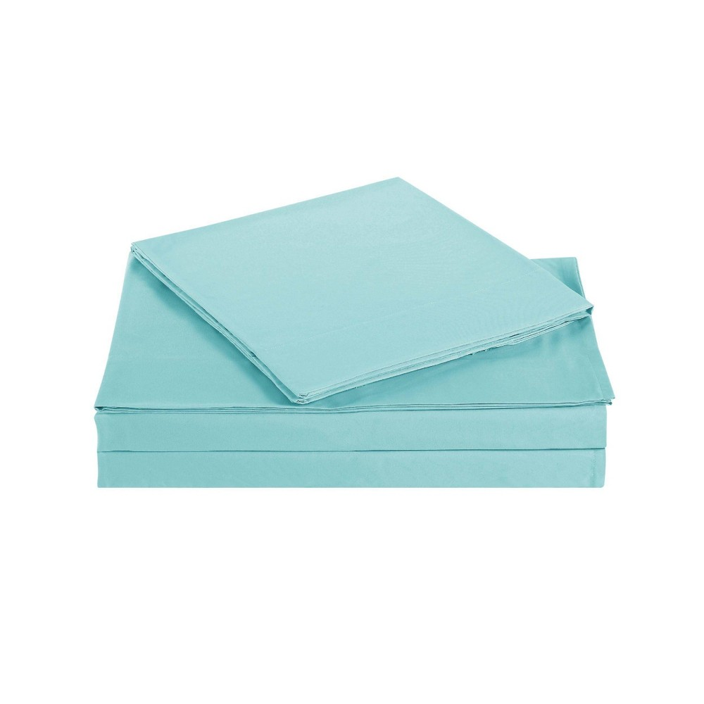 Image of Full Everyday Microfiber Solid Sheet Set Turquoise - Truly Soft