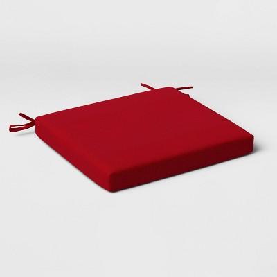 Outdoor Seat Cushion DuraSeason Fabric™ Red - Threshold™