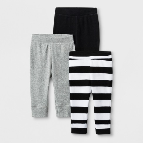 Baby 3pk Save the Day Pants - Cloud Island™ Black - image 1 of 1
