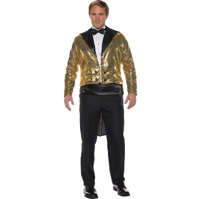 Adult Sequin Tails Gold Halloween Costume One Size