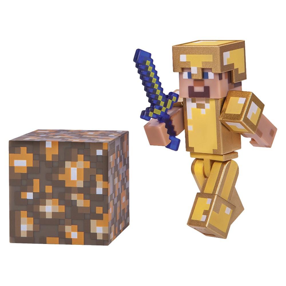 Minecraft Steve in Gold Armor - Core Figure Pack
