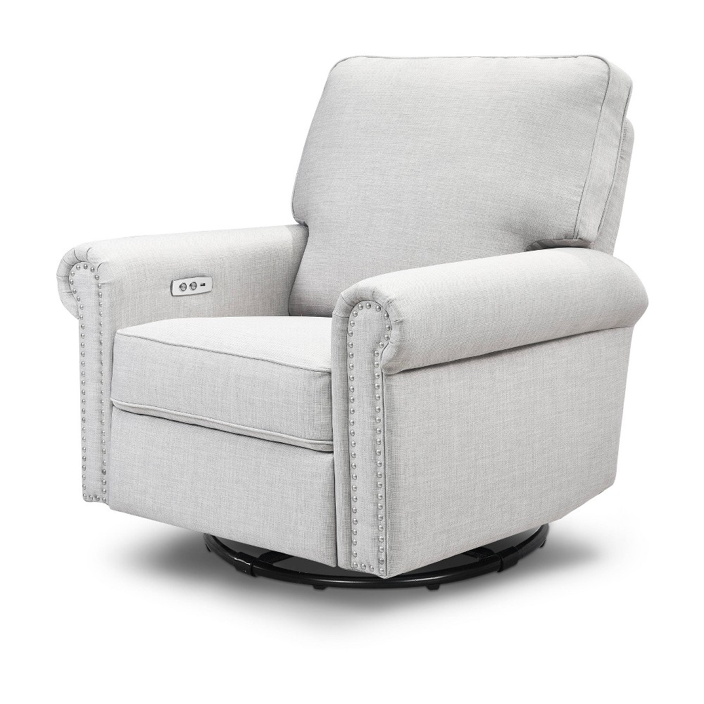 Image of Million Dollar Baby Classic Linden Power Recliner - Light Gray Weave, Light Grey Tweed