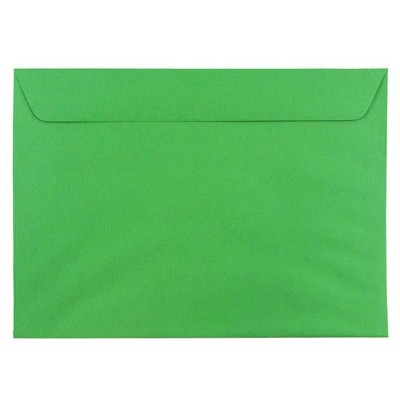 "JAM Paper 50pk 9""x12"" Booklet Envelopes - Green Recycled"