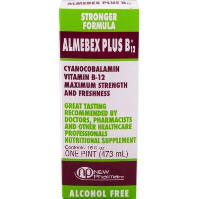 Almebex Plus Vitamin B12 Liquid - 16 fl oz