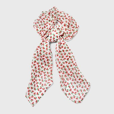 Jumbo Hair Twister with Cherry Print Scarf Tails - Wild Fable™ Red