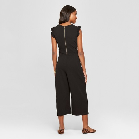 b0a34ec9365 Women s Flutter Sleeve Knit Cropped Jumpsuit - Xhilaration™   Target