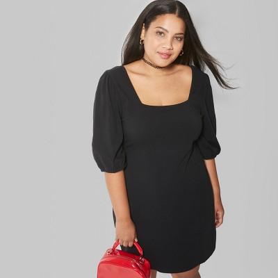 Plus Size Smocked Mini Dress