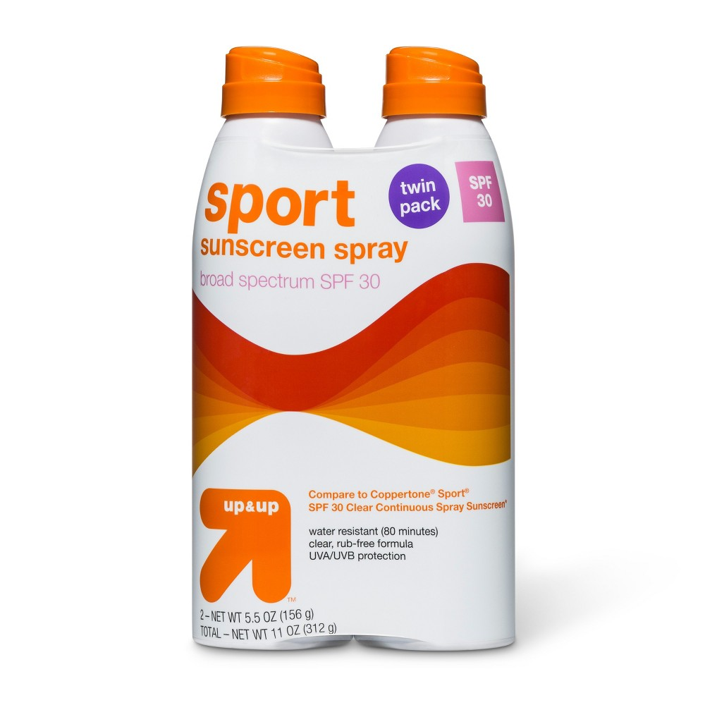 Sport Sunscreen Continuous Spray Spf 30 Twin Pack - 11oz - Up&Up
