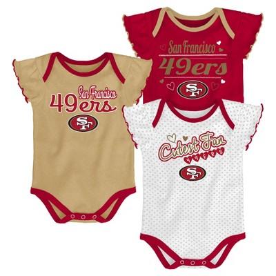 San Francisco 49ers Girls  Newest Fan 3pk Bodysuit...   Target 39ece064c