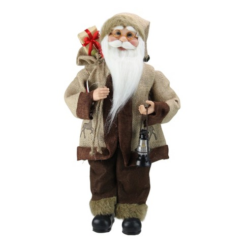 """Northlight 18.25"""" Country Rustic Santa Claus with Lantern Christmas Tabletop Decoration - image 1 of 3"""