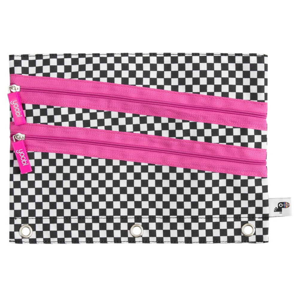 Yoobi Binder Pencil Case - Checker